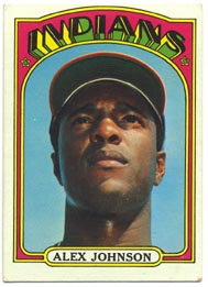 1972 Topps Baseball Cards      215     Alex Johnson